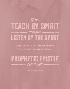 Teach by the Spirit